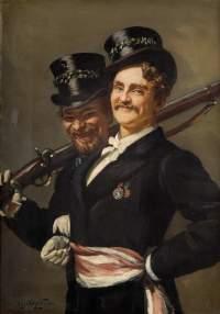 Die Schützenbrüder leben noch im 19. Jahrhundert