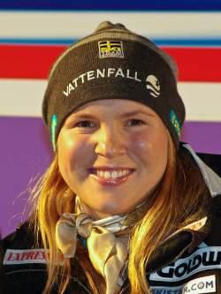 Anja P�rson dominierte �ber Jahre den alpinen Ski-Rennzirkus - Quelle: Wiki Commons / Christian Jansky / CC-BY-SA-3.0