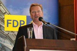 Blieb der namentlichen Abstimmung fern: Au�enminister und FDP-MdB Guido Westerwelle - Quelle: mueritz / flickr / cc by-sa 2.0