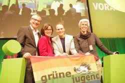Die vier queeren Kandidaten (v.l.n.r.): Volker Beck,  Bettina Herlitzius, Kai Gehring und Ulle Schauws - Quelle: gruenenrw / flickr / cc by-sa 2.0