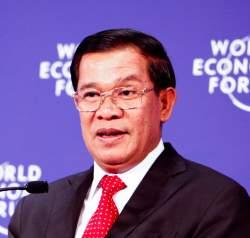 Ministerpr�sident Hun Sen - Quelle: Wiki Commons / World Economic Forum / CC-BY-SA-2.0