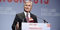 Bundeskanzler Werner Faymann regiert seit mehr als f�nf Jahren die Alpenrepublik - Quelle: SP� / flickr / cc by-sa 2.0