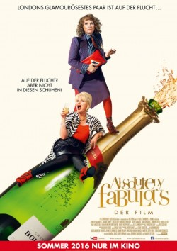 """Poster zum Film: """"Absolutely Fabulous"""" l�uft offiziell ab 8. September 2016 in den deutschen Kinos"""
