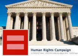 Das rote Zeichen für Gleichstellung verbreitet sich exponentiell auf Facebook - Quelle: Facebook