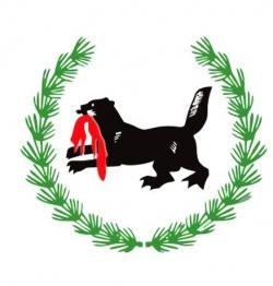Das Wappen der Region Irkutsk