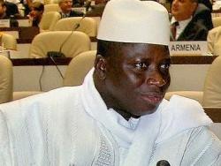 Staatspr�sident Yahya Jammeh sieht das Vorgehen gegen Homosexuelle als nationale Aufgabe an - Quelle: IISD