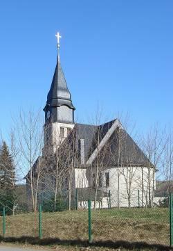 Schwule müssen leider draußen bleiben: Kreuzkirche Chemnitz-Klaffenbach - Quelle: Wiki Commons / Regi51 / CC-BY-SA-3.0