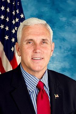 Mike Pence, der Gouverneur von Indiana, will die gleichgeschlechtlichen Eheschließungen in seinem Staat nicht akzeptieren - Quelle: United States Congress