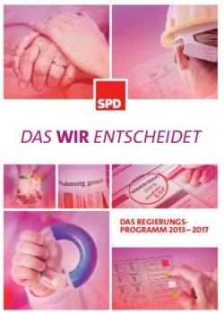 Die Titelseite des SPD-Wahlprogramms: Schwule, Babys, Geldautomaten...