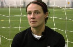 Mittelfeldspielerin Sarah Huffman spielt im selben Verein wie Abby Wambach