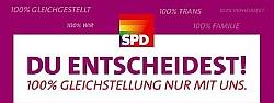 Die SPD hat im Wahlkampf bereits eine hundertprozentige Gleichstellung versprochen