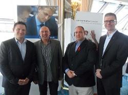 Neues B�ndnis von links nach rechts: Einmal Taxiruf, zweimal KLM, einmal V�lklinger Kreis am 7. Juli in K�ln - Quelle: Jeffrey Wahl