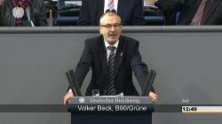 """Volker Beck beschimpft die Union als """"reaktion�r"""" - Quelle: Parlamentsfernsehen"""