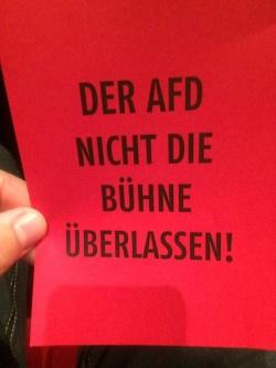 Protest gegen den Auftritt eines AfD-Politikers beim Birlikte-Festival in K�ln - Quelle: Arndt Klocke / Facebook
