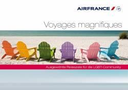 Air France hat in den vergangenen Jahren mehrere Broschüren für LGBT-Reisende veröffentlicht