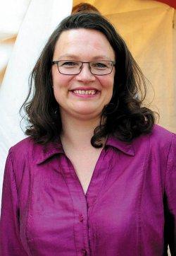 Setzt auf eine rot-grüne Bundesregierung: SPD-Generalsekretärin Andrea Nahles - Quelle: Dietrich Dettmann