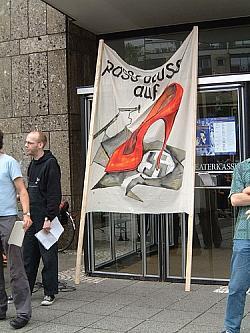 Kann wieder aus dem Keller geholt werden: Transparent vom Kölner Europride 2002 - Quelle: Norbert Blech