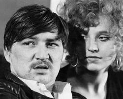 """Schl�ndorffs """"Baal"""" war einer der ersten Auftritte Rainer Werner Fassbinders, hier mit Hanna Schygulla - Quelle: Sammlung Volker Schl�ndorff"""