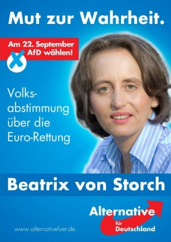 Versteht die Welt nicht mehr: Die Berliner Rechtsanw�ltin Beatrix von Storch, geb. Herzogin von Oldenburg, will f�r die AfD in den Bundestag einziehen - Quelle: AfD