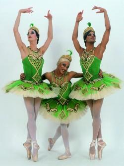 Bernd Burgmaier (links) tanzt bereits seit 14 Jahren f�r die Trockaderos - Quelle: Sascha Vaughan