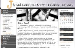 Mit dem K�lner Appell und Hinweisen f�r Journalisten setzt sich der BSLJ seit Jahren f�r einen entkrampften Umgang mit der Homosexualit�t ein.