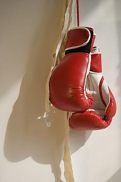 Strenge Schutzvorschriften wie 10-Unzen-Handschuhe und Kopfschutz senken das Gesundheitsrisiko beim Boxen - Quelle: 53924071@N06 / flickr / cc by-sa 2.0