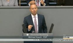 """In der Bundestagsdebatte am Donnerstag warf Kauch den Gr�nen vor, einen """"schlampigen"""" Gesetzentwurf eingebracht zu haben"""