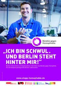 Plakatmotiv des Berliner B�ndnisses gegen Homophobie