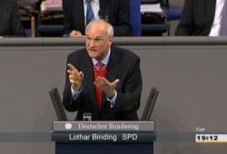 Lothar Binding (SPD) brachte den Vermittlungsausschuss ins Spiel