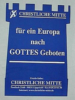 K�mpft f�r einen Gottesstaat: Plakat der Christlichen Mitte zur Europawahl 2009