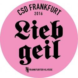 Rechte Symbolik, satirisch gemeint: Logo des CSD Frankfurt 2016