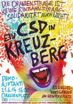 Das Plakat zum Kreuzberger CSD