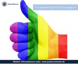 Mit dieser Grafik lobte die Bremer Polizei die Zivilcourage des Sportlehrers