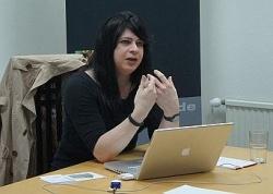 Mitautorin der ersten empirischen Studie �ber Transsexuelle in Deutschland: Rechtsanw�ltin Deborah Reinert pr�sentierte die wichtigsten Ergebnisse Anfang Mai in K�ln - Quelle: Marvin Mendyka