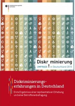 """Die ersten Ergebnisse der Studie """"Diskriminierung in Deutschland"""" gibt es als PDF zum Download"""