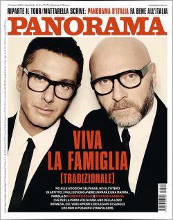 """""""Es lebe die (traditionelle) Familie"""": Dolce & Gabanna auf dem Cover des italienischen Magazins """"Panorama"""""""