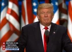 """Donald Trump meinte bei seiner Rede salopp, der Anschlag sei """"no good"""" gewesen"""