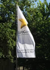 Sportspiele unter strenger Geheimhaltung: Nur wenige Fahnen wiesen den Weg zu den Eurogames