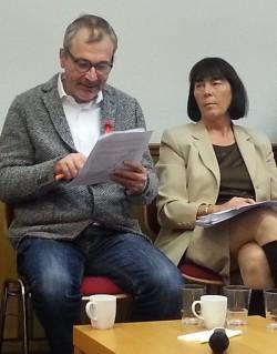 Volker Beck will im Dialog mit den Kirchen bleiben, um Ver�nderungen zu erzielen - Quelle: GEW K�ln