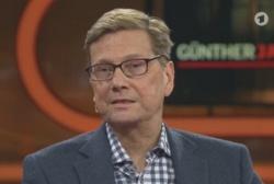 Im letzten November war Westerwelle Einzelgast bei G�nther Jauch und sprach �ber seine Erkrankung. Die Sendung in der ARD-Mediathek.