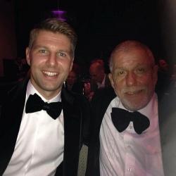 Die beiden Botschafter der Bundesstiftung Magnus Hirschfeld: Ex-Profifußballer Thomas Hitzlsperger und Zeitzeuge Klaus Born