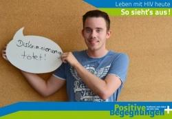 Der Konferenzteilnehmer und Blogger Marcel mit einer einfachen Botschaft - Quelle: DAH