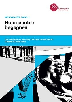"""Der Flyer """"Homophobie begegnen"""" steht auf der Homepage der Bundeszentrale f�r politische Bildung zum Download zur Verf�gung"""