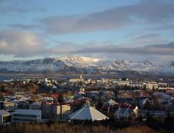 Reykjavik von oben: Blick vom Aussichtspunkt Perlan