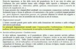 """Italienisches Handbuch: """"l'omosessualità (...) il sadismo (...) la necrofilia"""""""