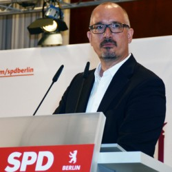 """Berlins SPD-Chef Jan St�� warf Ehe�ffnungs-Gegnern eine """"Argumentation aus der Buddelkiste"""" vor - Quelle: SPD Berlin"""