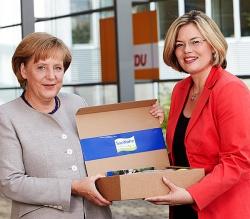 Direkter Draht zur Kanzlerin: Julia Kl�ckner ist eine von f�nf Stellvertretern von CDU-Chefin Angela Merkel
