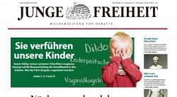 """Etschenberg lie� sich zuletzt vor den Karren der homophoben und extrem rechten Wochenzeitung """"Junge Freiheit"""" spannen"""
