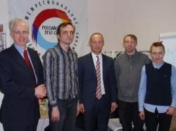 V.l.n.r.: Generalkonsul Dr. Benedikt Haller, Igor Kochetkow, Michael Kauch, Waleri Sosajew und Sascha Semenowa - Quelle: FDP