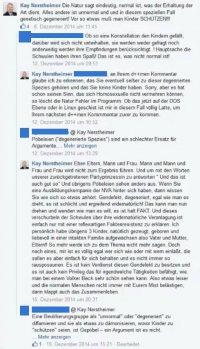 Die Tiraden Nerstheimers aus dem Jahr 2014 im Facebook-Profil der AfD-Europabgeordneten Beatrix von Storch, die auch Ko-Vorsitzende des Berliner Landesverbands ist